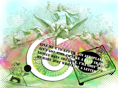 letter lettre music collage