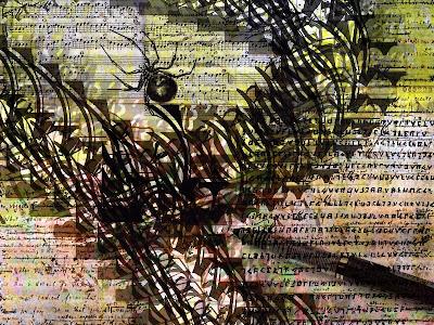 writer letter pencil spider