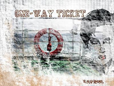 exodus ticket woman travel exile