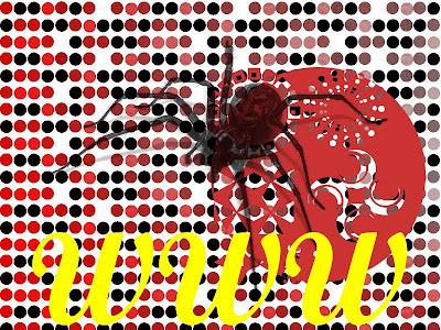 world wide web welcome spider pop-art
