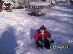Drew in snow