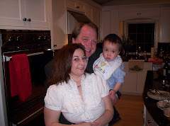 Mommy, Daddy and Drew on the first night of Passover