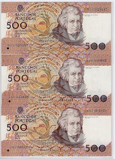 Notas da República Portuguesa: 500 Escudos Chapa 12