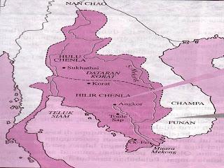 .sejarah tingkatan 1: Peta Kerajaan Angkor