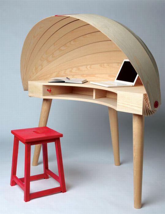 Creative home office desks kerala home design and floor - Creative office desk ideas ...