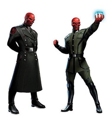 the red skull concept art - Arte conceptual de Red Skull del filme de Capitan America!