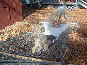 hammock made of duct tape