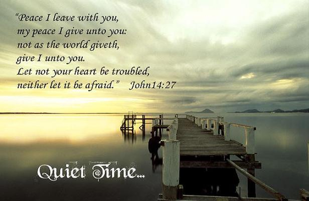 quiet time with god - photo #2