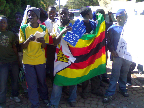 That demo at the Zimbabwe Embassy in Pretoria!