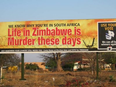 BILLBOARD AT MUSINA (MESSINA): SA/ZIM BORDER!