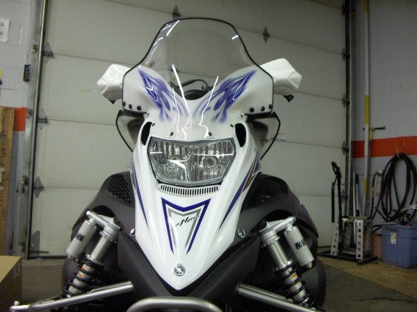 Fx nytro tall windshield and side for Yamaha nytro xtx accessories