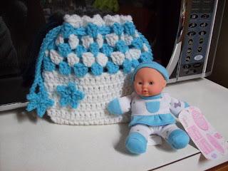 Ravelry: Crochet Doll Cradle Purse pattern by bobwilson123 | 240x320