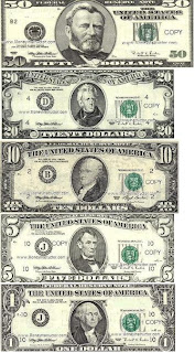 Juicy image within printable realistic money
