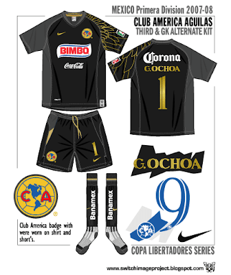 check out 13a0d dad58 Football teams shirt and kits fan: Club America - Mexico ...