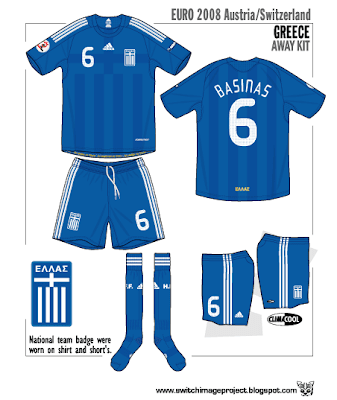 size 40 9151f 09d9a Football teams shirt and kits fan: Greece UEFA EURO 2008 ...