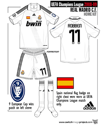 c1096355a For the European competition Real Madrid still with same Home basic kit  design. The kit is all white