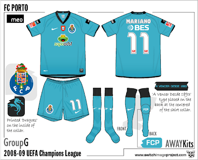 275cf185baaab Porto's also have a new away kits for the new season. Porto FC away shirt  is aqua in colour with a black V-Shaped collar. Sleeve ends and base are  black.