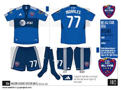 5672ec5bd 2009 MLS All-Star uniforms were designed by adidas