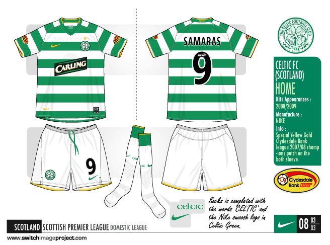 8e5ffa571 Celtic FC shirts will be worn with white shorts and socks is completed with  the words