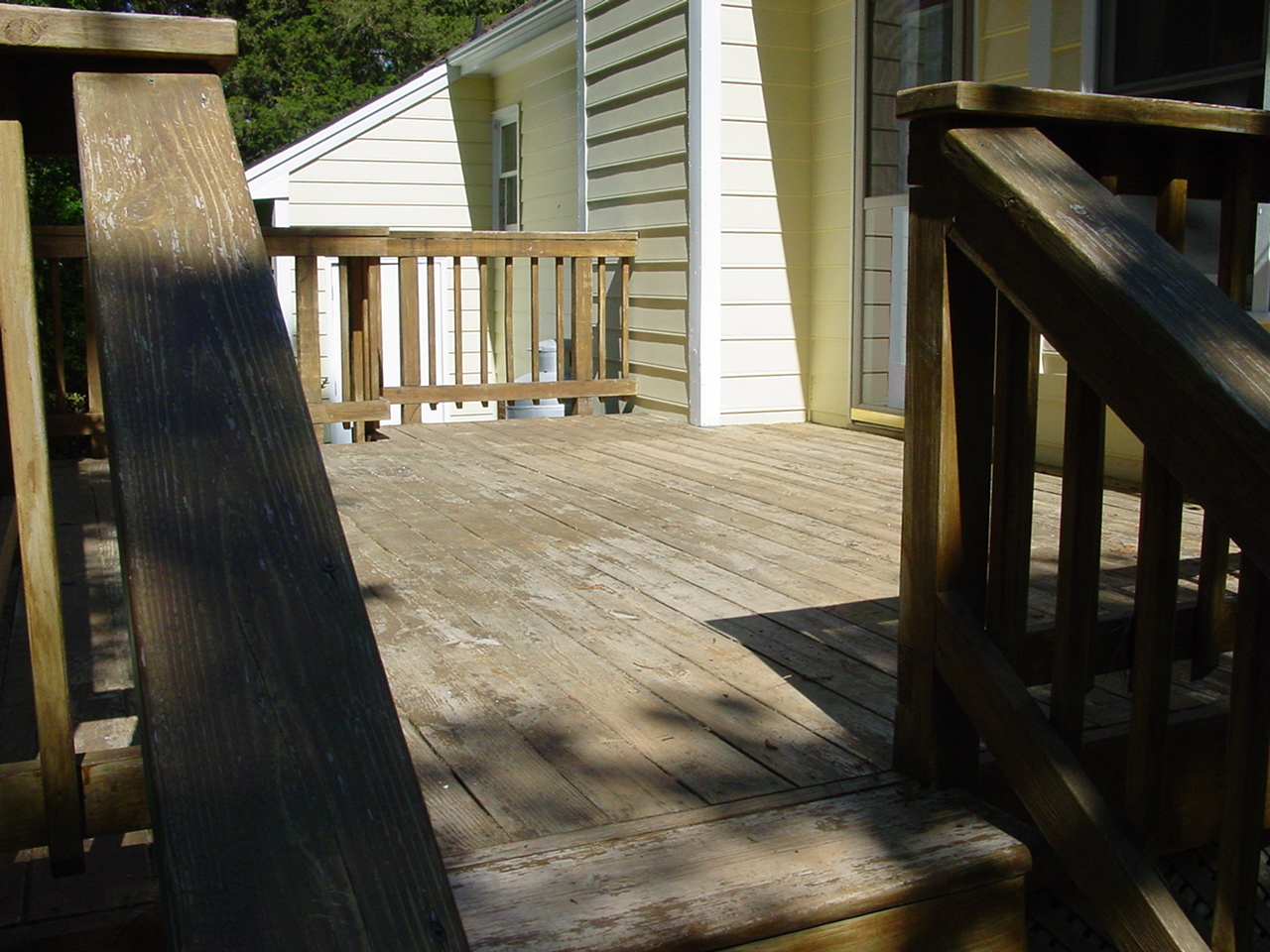 Calvert Painting Deck Staining Before And After