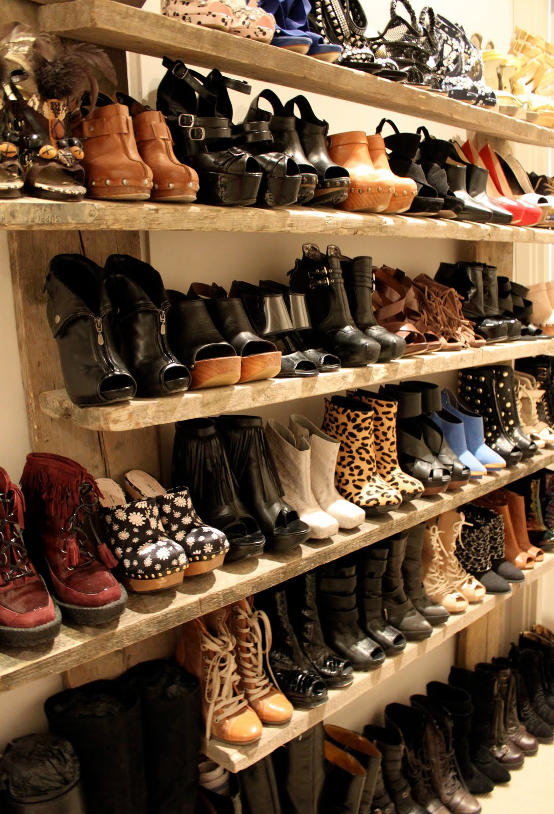 Diy Shoe Shelf So Many Amazing Pairs A Pair Amp A Spare