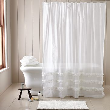 Sheer Shower Curtains Fabric BestCurtains