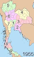 Regions as of 1951