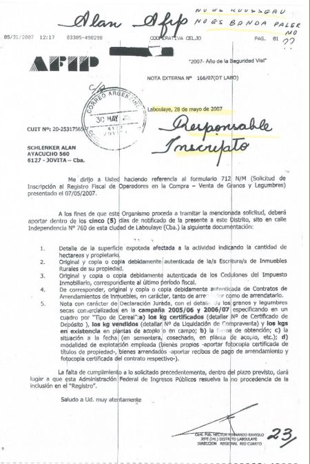 AFIP - RESPONSABLE INSCRIPTO