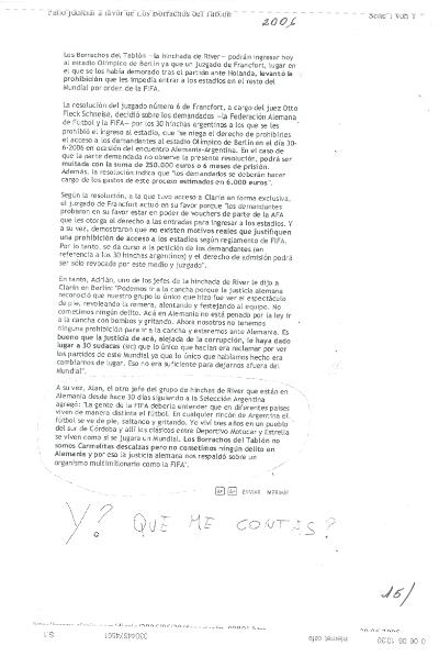 Y QUÉ ME CONTÁS- CUENTO QUE UNA DÉCADA DE LECTURA DE SUMARIOS JUDICIALES FUE ÚTIL