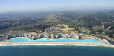 28 ene 08  Costa San Alfonso del Mar asemeja Caribe - Alq depto 1 dormi 7 noches  US$ 1350