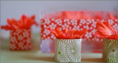 Ribbon-wrapped Gladiolas