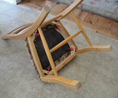 Re-Upholstering the Chair Seat