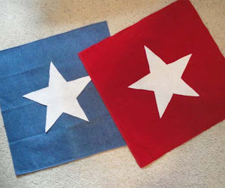 Making Red & Blue Star Pillows