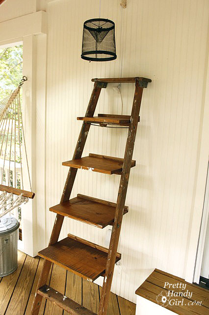 Guest Post How To Build Ladder Shelves Centsational Style