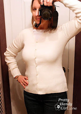 Re-Sizing and Dressing Up a Goodwill Sweater