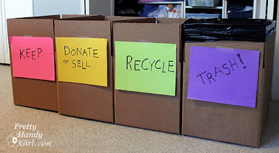 decluttering when moving house