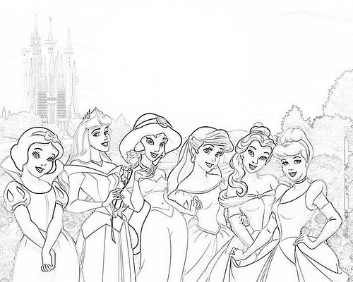 Fotos Das Princesas Da Disney Para Colorir