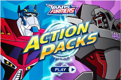 Games Online on Transformers Animated Action Packs