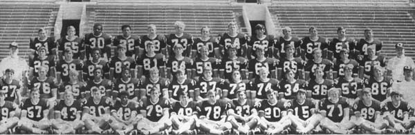 A team photo of the 1970 Shocker Football squad