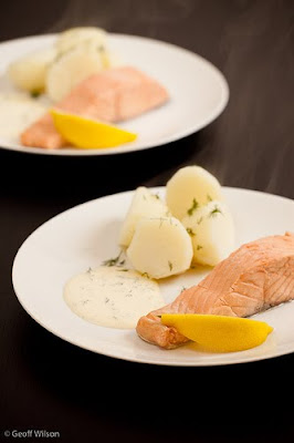 Salmon With Sour Cream And Dill Sauce Recipe I Have Cooked This Delicious Meal For Many Many Friends And It Really Is Perfect To Enjoy On A Warm Summer