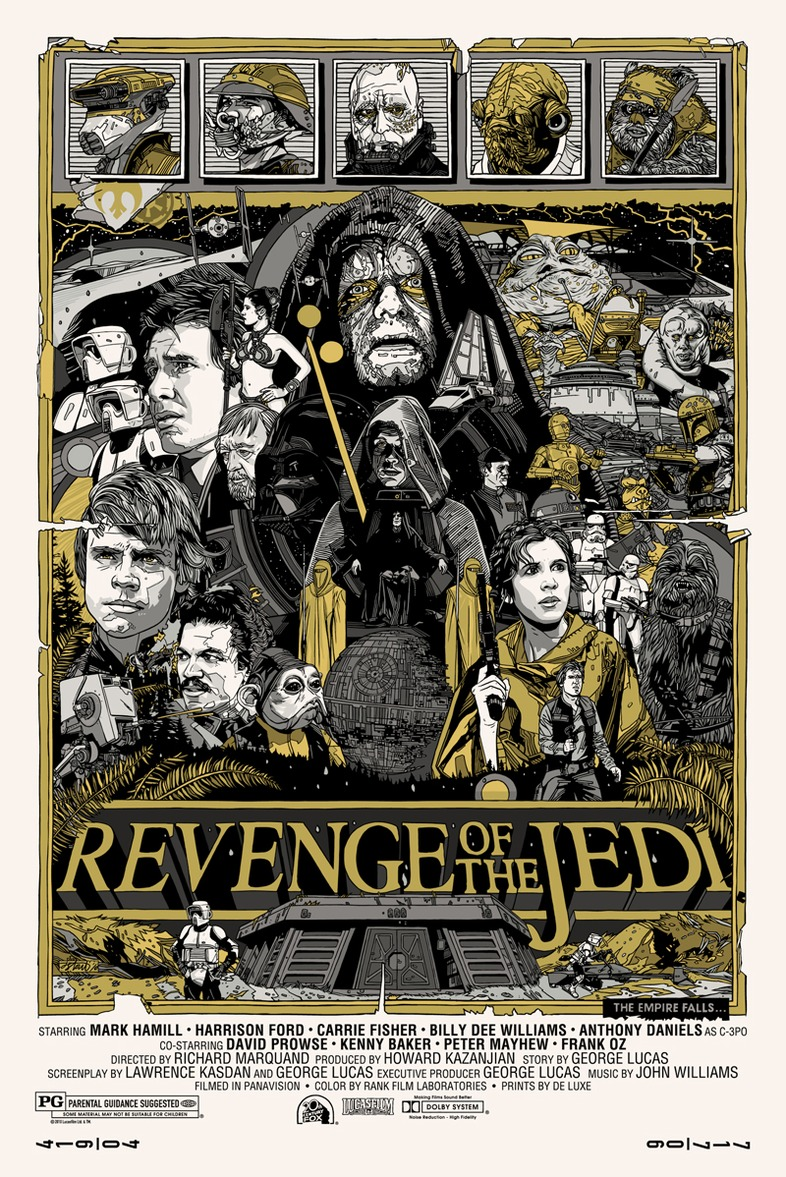 surpluss tyler stout 39 s star wars trilogy posters for mondo. Black Bedroom Furniture Sets. Home Design Ideas