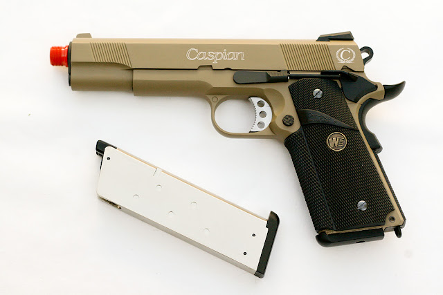 1911 MEU Tan Airsoft Gas Blowback Pistol, Pyramyd Air, Airsoft Green Gas Guns