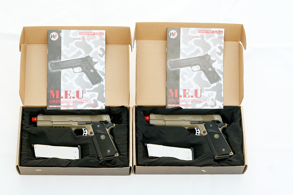 Pyramyd Airsoft Blog: Review - Two WE 1911 MEU GBBPs at the