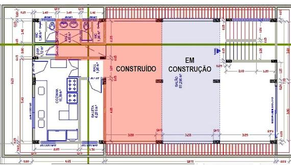 planta baixa da edificação