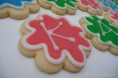 cookies with iced letters on them