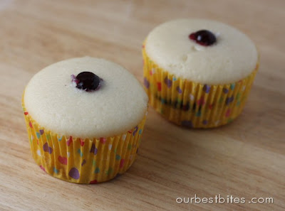 two filled cupcakes