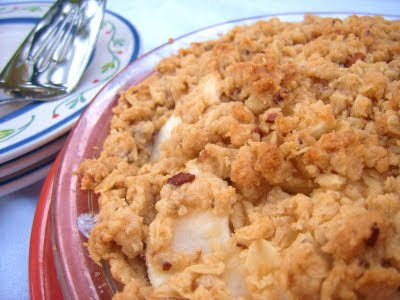 crumble toped apple pie