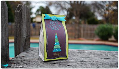 hot cocoa mix free printable tag