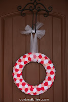 Weekend Crafting: Valentine Rosette Wreath