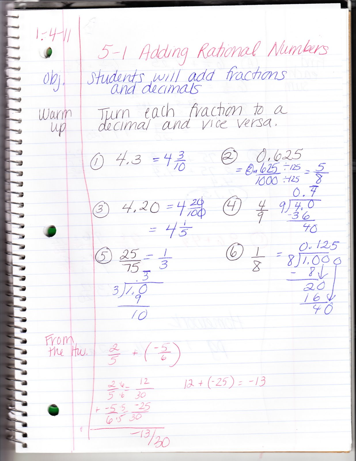 Ms Jean S Algebra Readiness Blog 5 1 Adding Rational Numbers